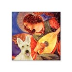 Mandolin / Scottie (w) Square Sticker 3