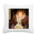 Queen / Scottie (w) Square Canvas Pillow