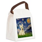 Starry Night / Scottie (w) Canvas Lunch Bag
