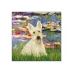 Lilies / Scottie (w) Square Sticker 3