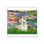 Lilies (#2)/Sealyham L2 Square Sticker 3