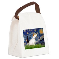 Starry Night/Sealyham L1 Canvas Lunch Bag