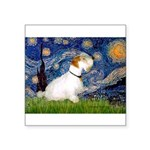 Starry Night/Sealyham L1 Square Sticker 3