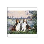 Seine / 2 Shelties (dl) Square Sticker 3