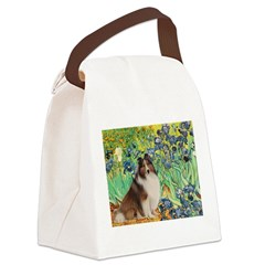 Irises / Sheltie Canvas Lunch Bag