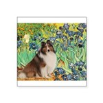 Irises / Sheltie Square Sticker 3