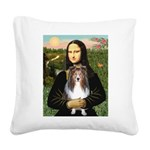 Mona Lisa's Sheltie (S) Square Canvas Pillow