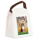 Spring / Sheltie (#1) Canvas Lunch Bag