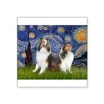 Starry / Two Shelties (D&L) Square Sticker 3