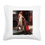 Accolade / Sheltie tri Square Canvas Pillow