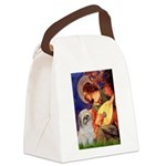 Angel3/Shih Tzu (P) Canvas Lunch Bag