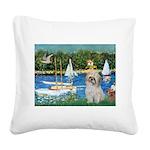 Bassin/Shih Tzu (P) Square Canvas Pillow