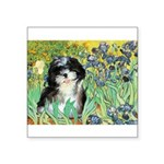 Irises / Shih Tzu #12 Square Sticker 3