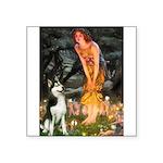 Mid.Eve / Siberian Husky Square Sticker 3