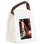 Princess / Siberian Husky Canvas Lunch Bag