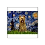 Starry Night / Silky T Square Sticker 3