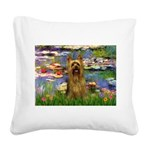 Lilies / Silky T Square Canvas Pillow