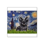 Starry / Black Skye Terrier Square Sticker 3