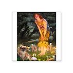 Fairies / Tibetan Spaniel Square Sticker 3