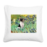 Irises / Toy Fox T Square Canvas Pillow