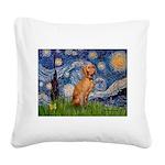 Starry Night / Vizsla Square Canvas Pillow