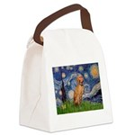 Starry Night / Vizsla Canvas Lunch Bag