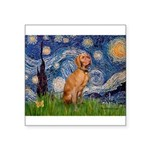 Starry Night / Vizsla Square Sticker 3