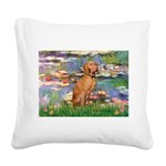 Lilies / Vizsla Square Canvas Pillow