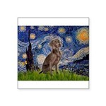 Starry / Weimaraner Square Sticker 3