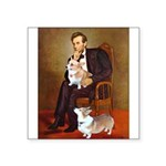 Lincoln's 2 Corgis (Pem) Square Sticker 3