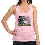 Lilies (#1) - Corgi (Bl.M) Racerback Tank Top