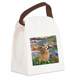 Lilies (2) & Corgi Canvas Lunch Bag