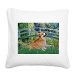 Bridge / Corgi Square Canvas Pillow