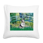Bridge / Welsh Corgi (Bl.M) Square Canvas Pillow