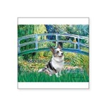 Bridge / Welsh Corgi (Bl.M) Square Sticker 3