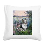 The Seine - Corgi (Bl.M) Square Canvas Pillow