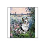 The Seine - Corgi (Bl.M) Square Sticker 3