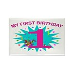 1st Birthday Rectangle Magnet