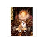 The Queen's Corgi Square Sticker 3