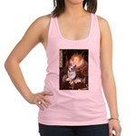 The Queen's Corgi (Bl.M) Racerback Tank Top