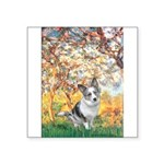 Spring - Corgi (Bl.M) Square Sticker 3