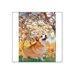 Spring / Corgi Square Sticker 3