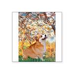 Spring / Corgi Square Sticker 3