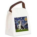 Starry Night / Welsh Corgi Canvas Lunch Bag
