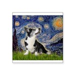 Starry Night / Welsh Corgi Square Sticker 3