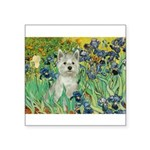 Irises / Westie Square Sticker 3