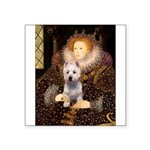 Queen Liz & Her Westie Square Sticker 3