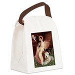 Seated Angel & Wheaten Canvas Lunch Bag