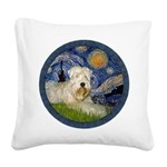 Starry / Wheaten (#1W) Square Canvas Pillow