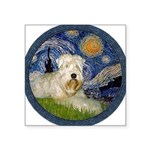 Starry / Wheaten (#1W) Square Sticker 3